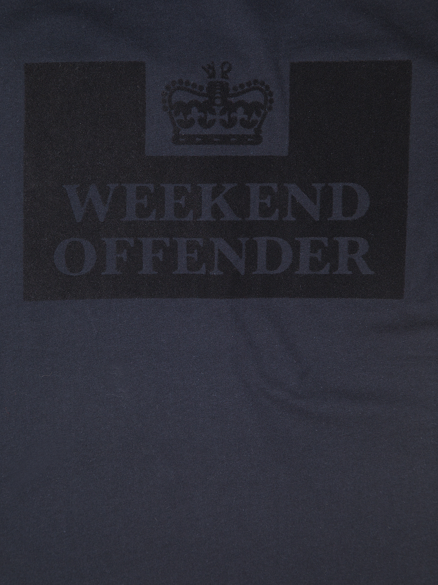 Футболка Weekend Offender Prison Tee Flock Black