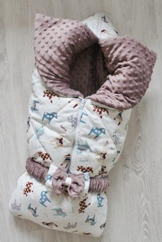 Зимнее одеяло - конверт - трансформер на выписку Игрушки