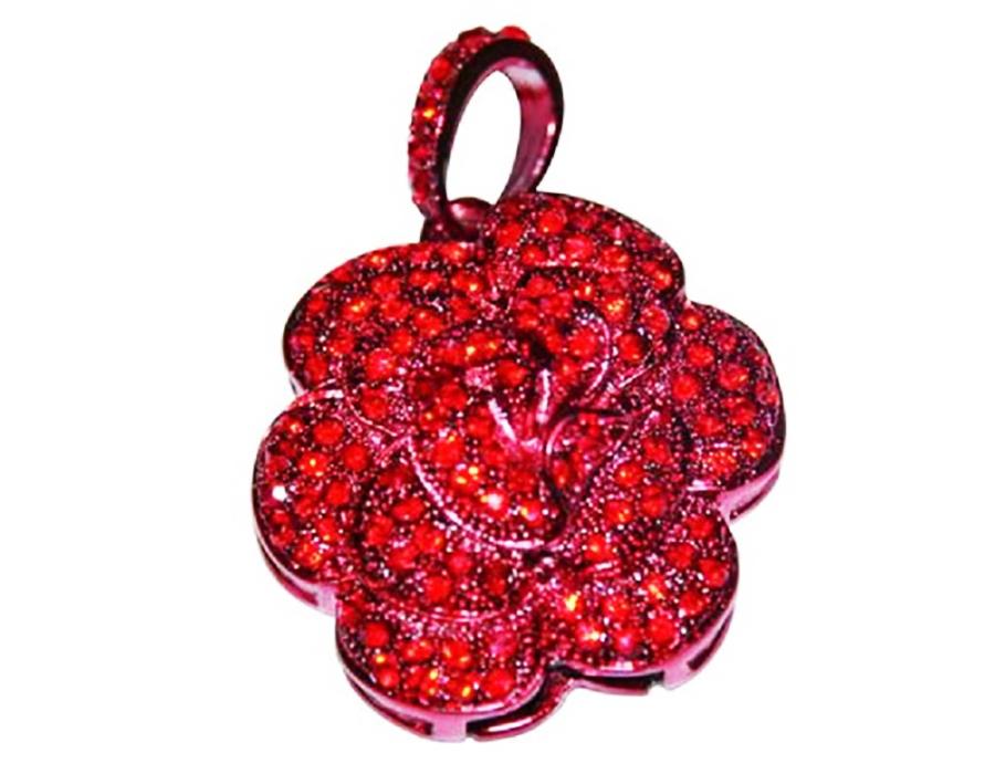 usb-флешка красная камелия