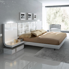 Кровать Fenicia Mobiliario 514 GRANADA белоснежная с подсветкой