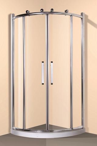 Душевое ограждение с поддоном   Loranto CS-511 90x90x200 см профиль хром, стекло прозрачное