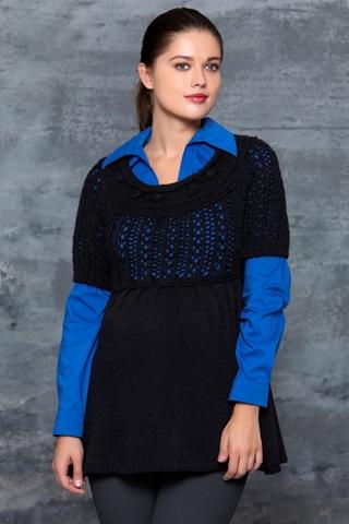 Блузка для беременных 00031 черный