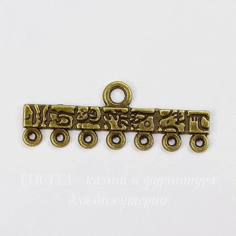 "Коннектор ""Тотем"" (1-7) 39х14 мм (цвет - античная бронза)"