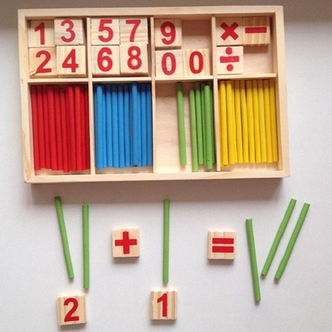 Набор счётных палочек, цифр и знаков, 72 элемента 2