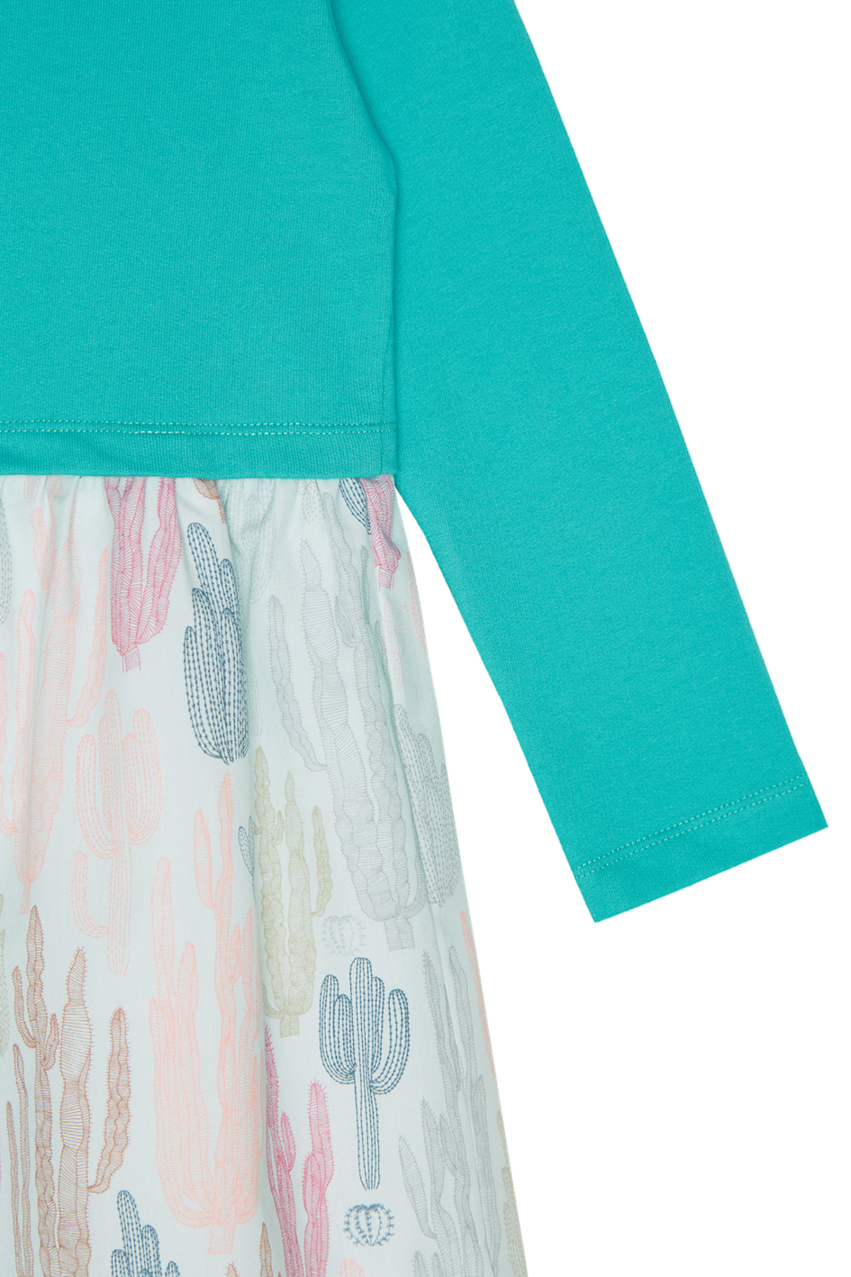 Green Jersey and Cactus Dress