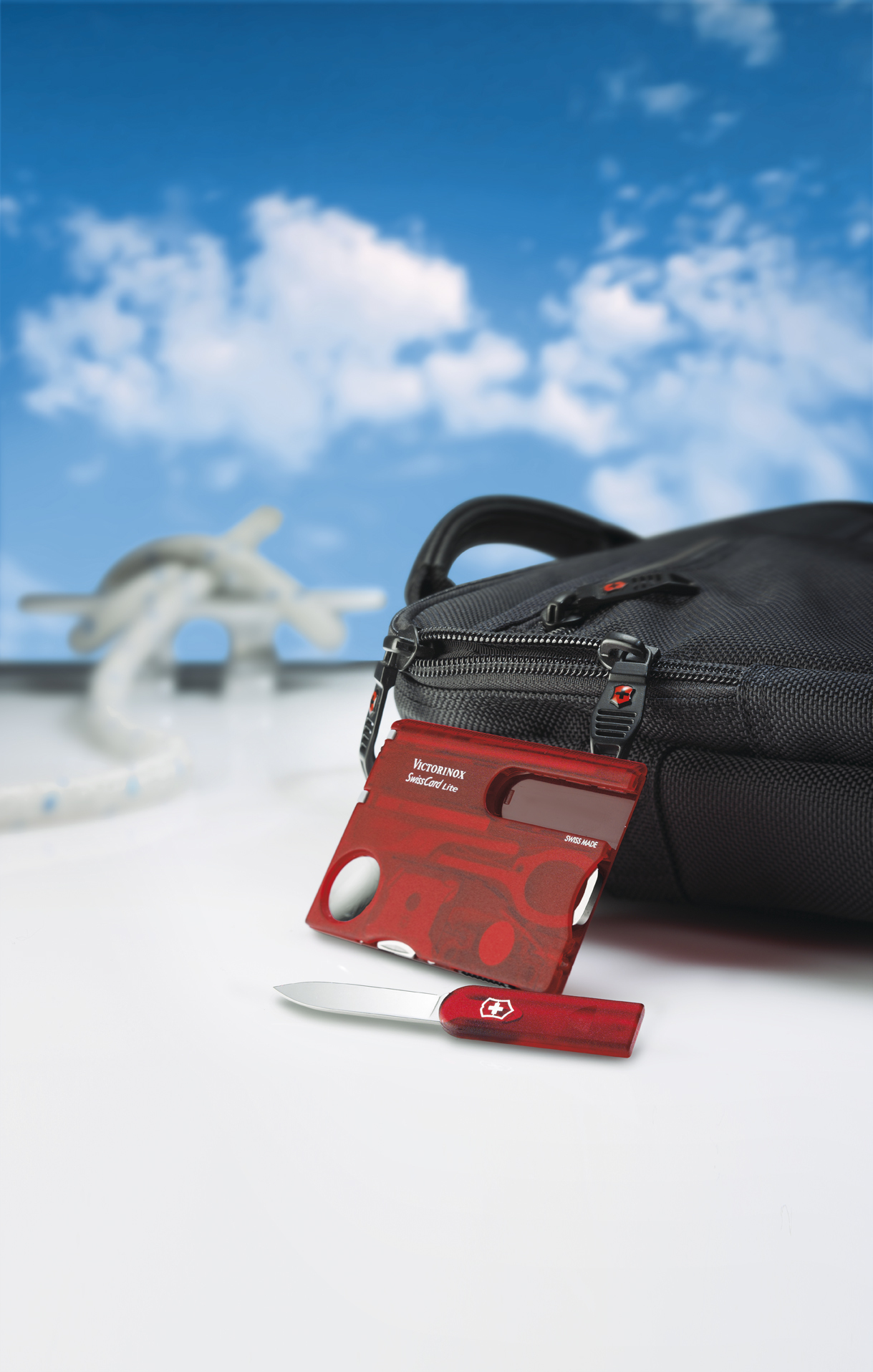 Швейцарская карточка Victorinox SwissCard Lite, красная*