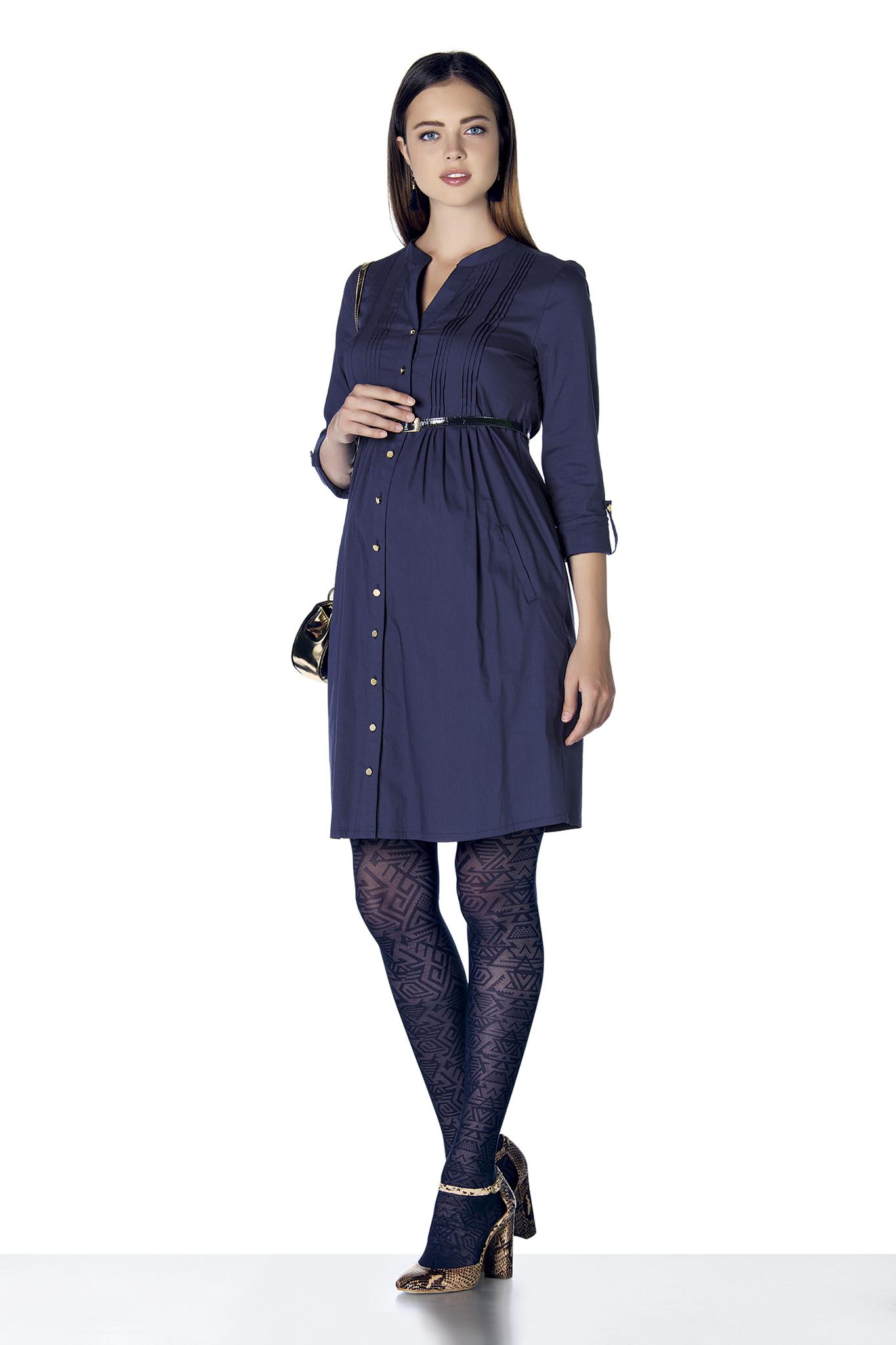 Платье для беременных 07900 синий