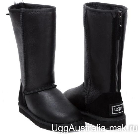 Ugg Tall Zip Metallic Black