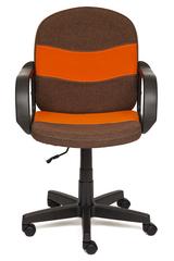 Кресло компьютерное Багги (Baggi) — коричневый/оранжевый (3М7-147/С23)