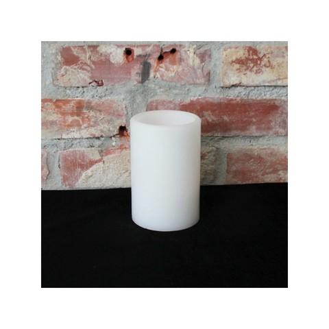 Мерцающая белая светодиодная свеча 15см
