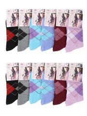 A23 носки женские 37-42 (12 шт.), цветные