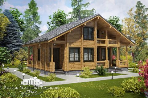 """Проект двухэтажного дома """"Альпина"""" 190 кв.м."""