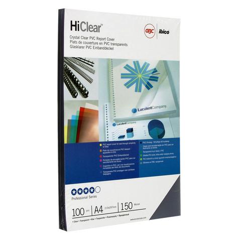 Обложки для переплета пластиковые GBC прозр. А4, 150мкм, 100шт/уп.