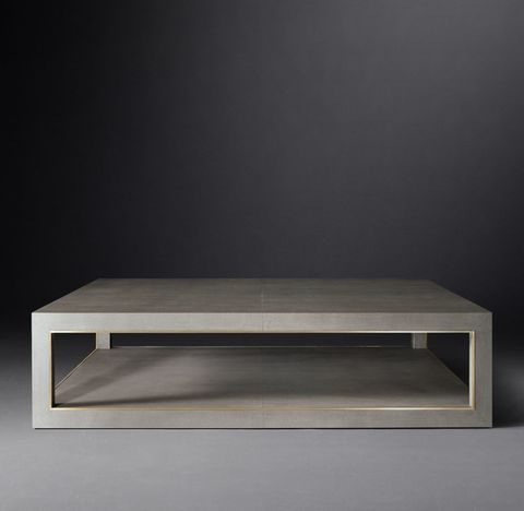 Cela Shagreen Square Coffee Table