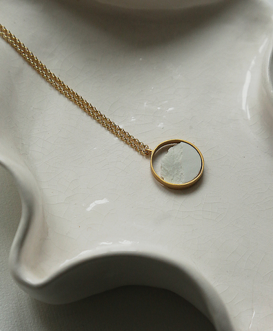 Колье CIRCULAR MINI GOLDEN WHITE