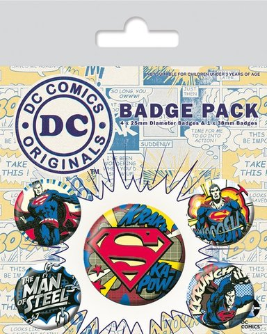 Значки Pyramid: DC: DC Originals (Superman Comic)