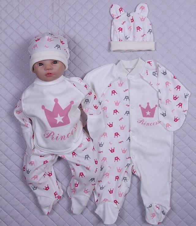 51dc1167454fd Набор одежды для новорожденного в роддом Princess розовый - купить ...