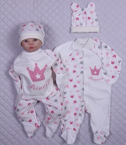 Набор одежды для новорожденного в роддом Princess розовый