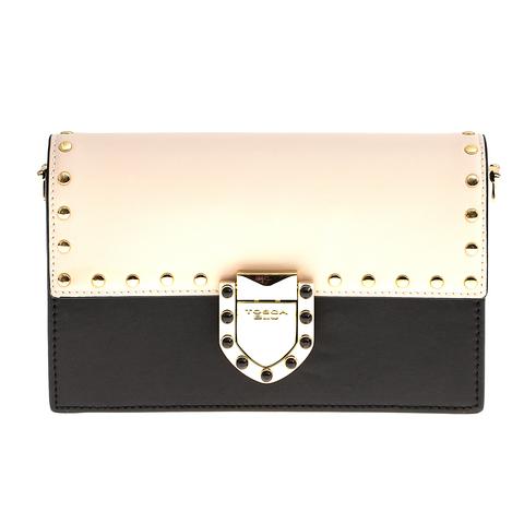 Кожаная сумка Tosca Blu Pollock Ivory, черный, Italy, фото 3