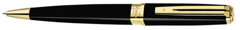 Шариковая ручка Waterman Exception Slim Black GT. Детали дизайна: позолота 23К.