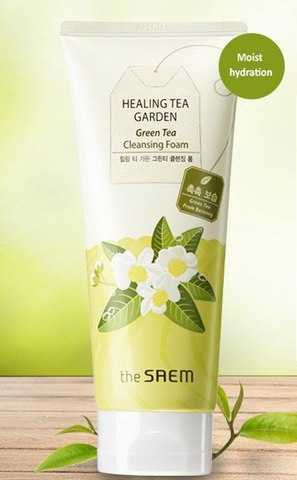 Пенка с зеленым чаем Healing Tea Garden Green Tea Cleansing Foam от  the Saem