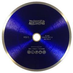 Алмазный диск по керамограниту 200х2,0х22,2/25,4 мм  MESSER KG/L для плиткореза