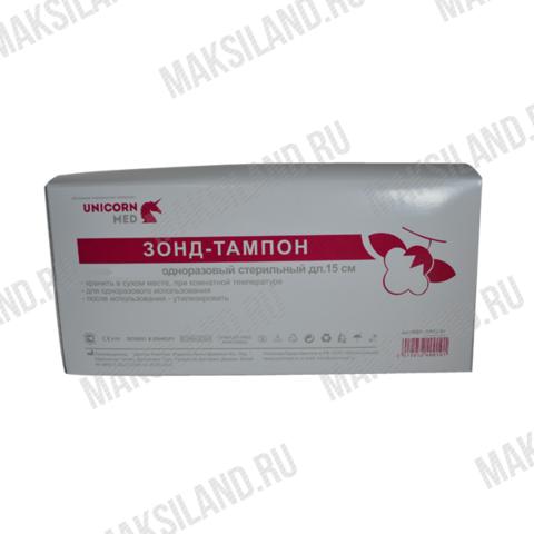 Палочка-тампон стерильная 15см (пластик-хлопок) UNICORNMED, уп.100шт