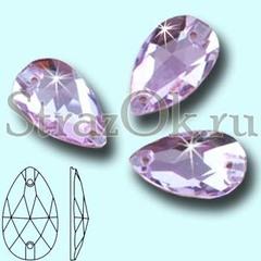 Стразы пришивные стеклянные Drope Light Violet, Капля Лайт Виолет светло-фиолетовый