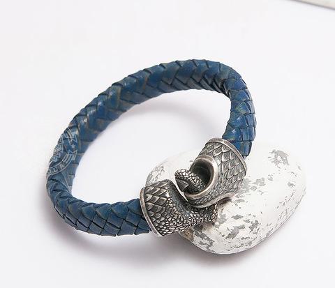 BD001-015 Скандинавский браслет из плетеного шнура с застежкой Коготь Дракона
