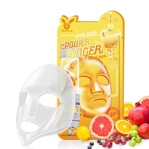 Elizavecca Тканевая маска д/лица с Витаминами Vita Deep Power Ringer Mask, 23 мл