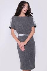 Шикарная модель для уверенных и стильных женщин. Свободный крой, талия на резине. Спущенное плечо с эффектной отделкой. Функциональные карманы.  Длина платья 44-52р - 104-107 см