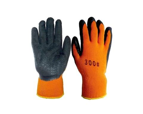 Перчатки акриловые облитые вспененным латексом (утепленные)