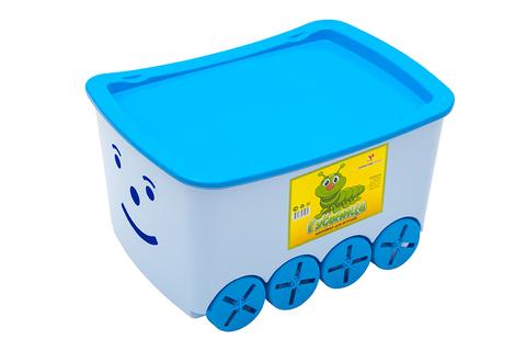 Контейнер для игрушек гусеница. Цвет: Голубой
