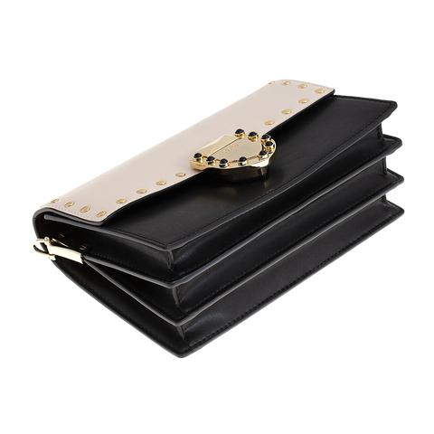 Кожаная сумка Tosca Blu Pollock Ivory, черный, Italy, фото 5