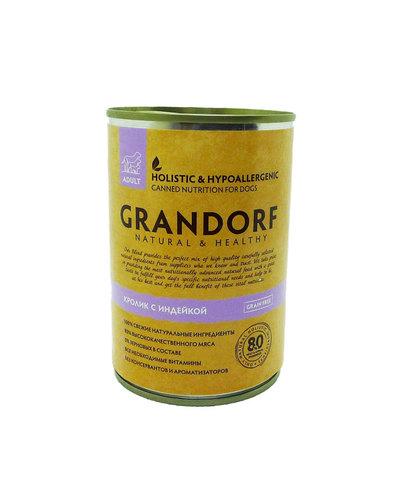 Grandorf Dog консервы для собак (кролик с индейкой) 400г