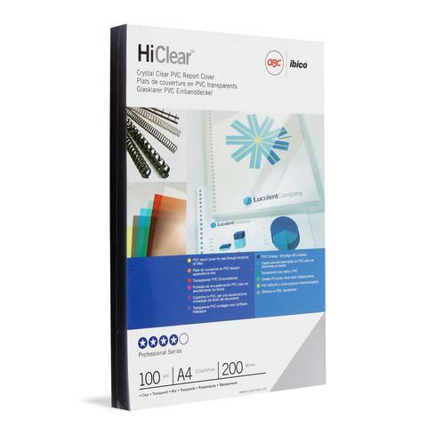 Обложки для переплета пластиковые GBC прозр. А4, 200мкм, 100шт/уп.
