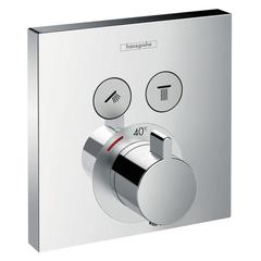 Смеситель встроенный термостат с 2 запорными клапанами Hansgrohe ShowerSelect  15763000