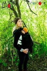 Флисовая слинговставка-накидка для мамы и малыша МаМ Сold Weather Insert, Черный (Blackbird)