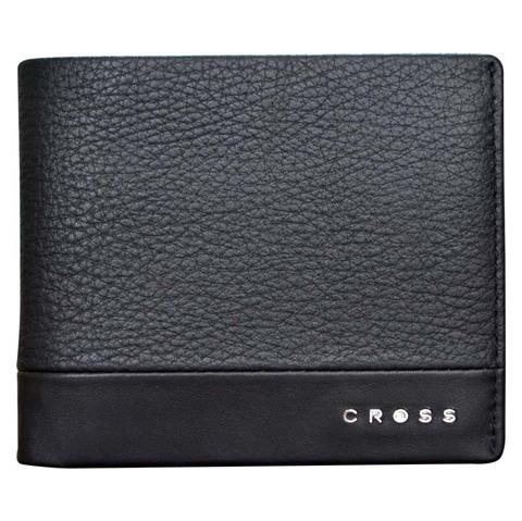 Кошелёк, Cross Nueva FV, кожа наппа, фактурная, чёрный, 8 х 1,5 х 10,5 см