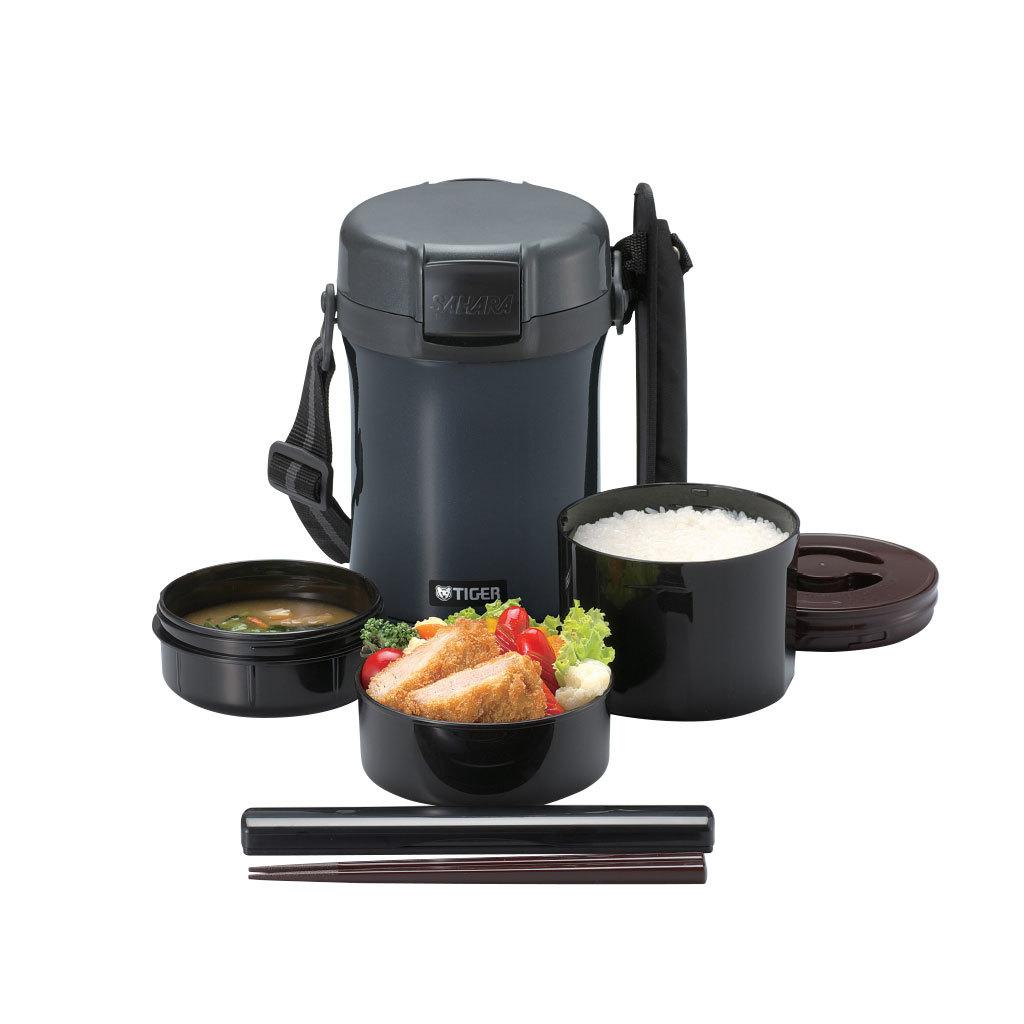 Термос для еды с контейнерами Tiger LWU-A171 (1,41 л), темно-серый