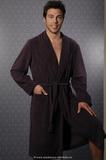 Бордовый теплый мужской халат B&B
