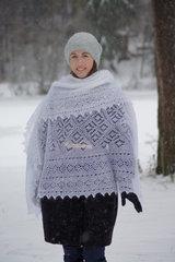 Оренбургский пуховый платок 70 фото 4
