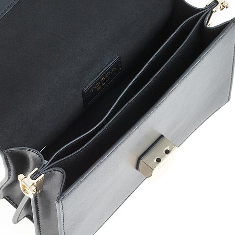 Кожаная сумка Tosca Blu Pollock Ivory, черный, Italy, фото 6