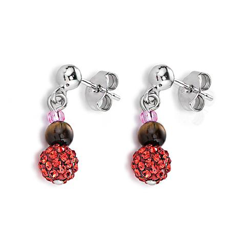 Серьги Coeur de Lion 4901/21-0311 цвет красный, коричневый, розовый
