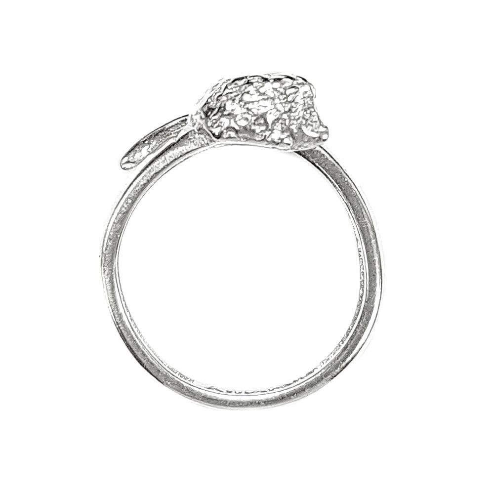 Hedgehog totem ring, sterling silver