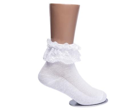 Носки детские белые с ажурной рюшей