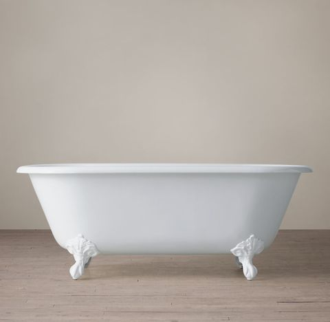 Vintage Imperial Clawfoot Tub - White Feet