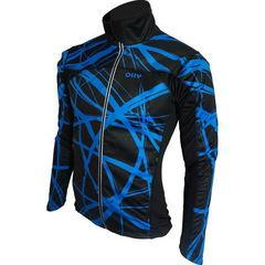 Лыжная ветрозащитная куртка Olly Bright Sport (140301) синяя с мембраной softshell