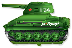 F Танк T-34 Зеленый, 31''/79 см, 1 шт.