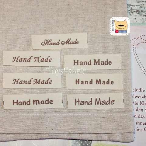 Нашивка тканевая HandMade шрифты (7 шт.)  Н110